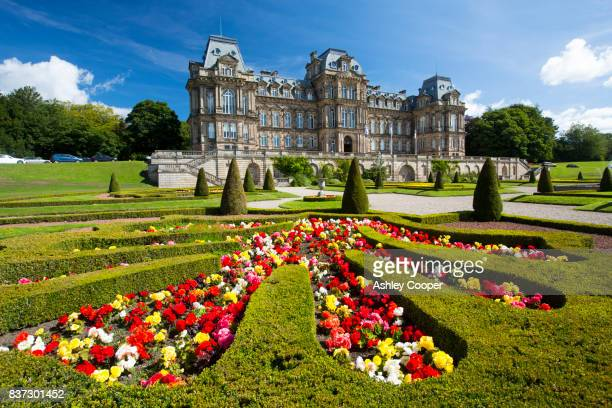 the famous bowes museum in barnard castle, county durham, uk. - barnard castle stock pictures, royalty-free photos & images