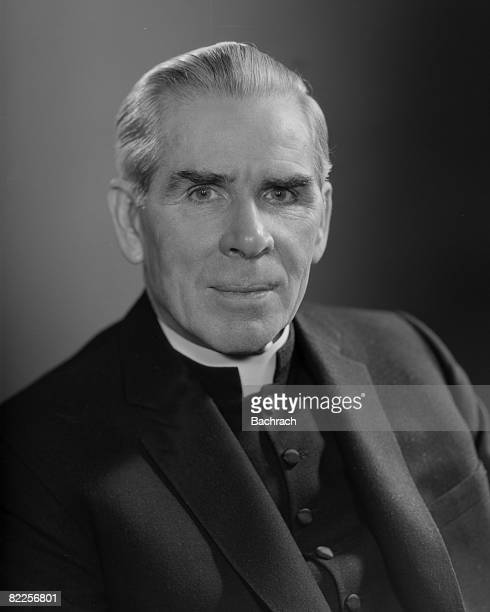 The famous Catholic Archbishop Fulton J Sheen is shown in a closeup portrait New York 1964