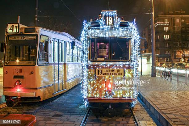 The famous Christmas tram in Budapest starts from the Batthyany Square in Budapest.