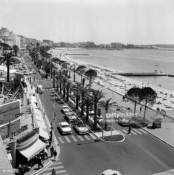 The famous Croisette is ready for the 16th Cannes Film Festival in May 1963 in Cannes France