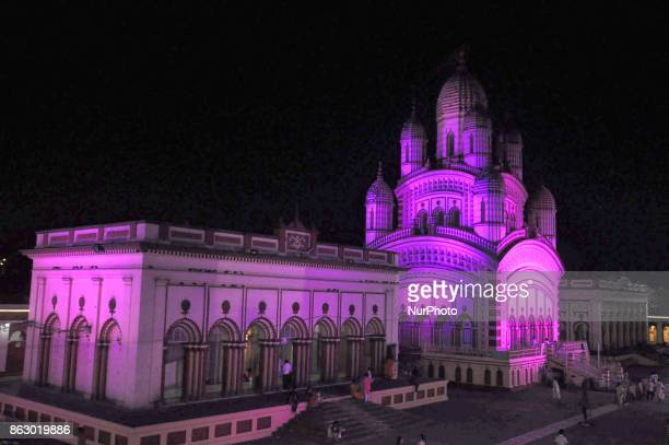 The famous Dakshineswar Kali temple Lighiting decoration on the occasion for Kali Puja and Deepawali Festival on October 192017 in...