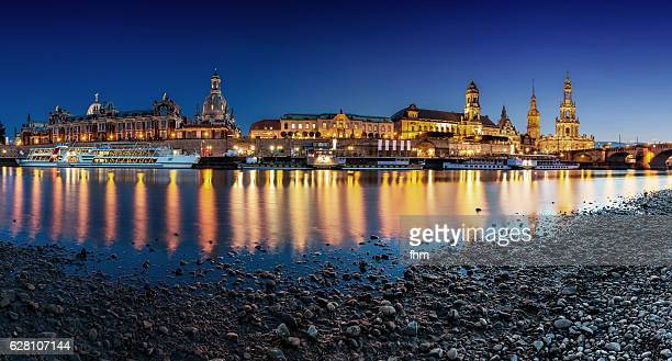 The famous Dresden Skyline with Elbe River (Saxony/ Germany)