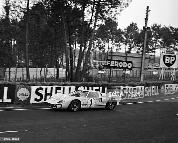 The famous Ford GT 40 driven by Ken Miles and Denny Hulme They finished second