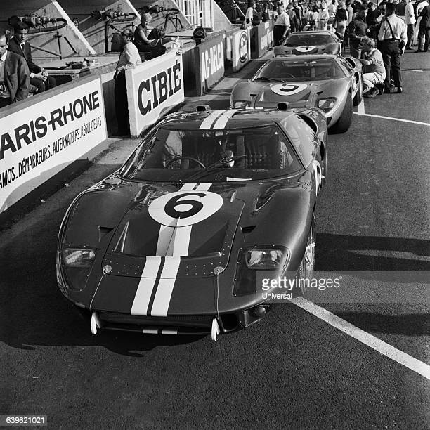 The famous Ford GT40 driven by Mario Andretti and Lucien Bianchi during the 1966 24 Hours of Le Mans
