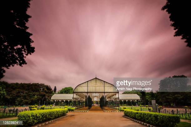 the famous glass house at lalbagh - bangalore stock pictures, royalty-free photos & images