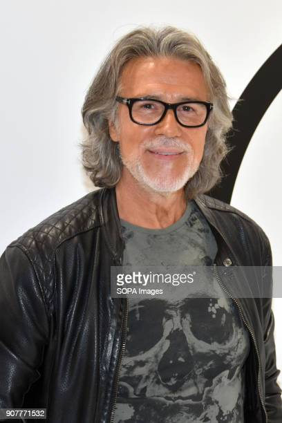 The famous hairdresser and stylist Alberto Cerdán in the Cosmobeauty fair held in Barcelona