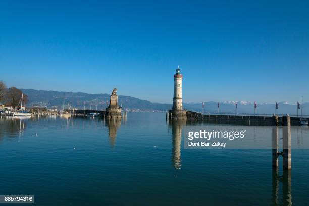The famous harbour entrance of Lindau