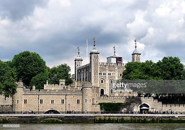The famous historic British landmark and tourist attraction, The Tower of London.