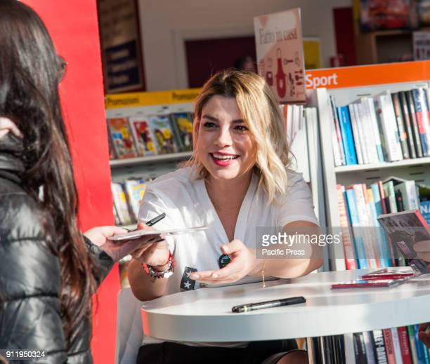 LA FELTRINELLI NAPLES ITALY/ CAMPANIA ITALY The famous Italian singer Emma Marrone presents to Feltrinelli her album 'Be qui' anticipated by the...