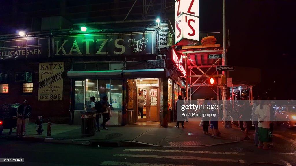 The Famous Katz S Delicatessen Kosher Restaurant Along Houston Street In Lower East Side Of Manhattan
