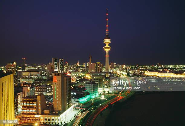 The Famous Landmark in Kuwait City at Night