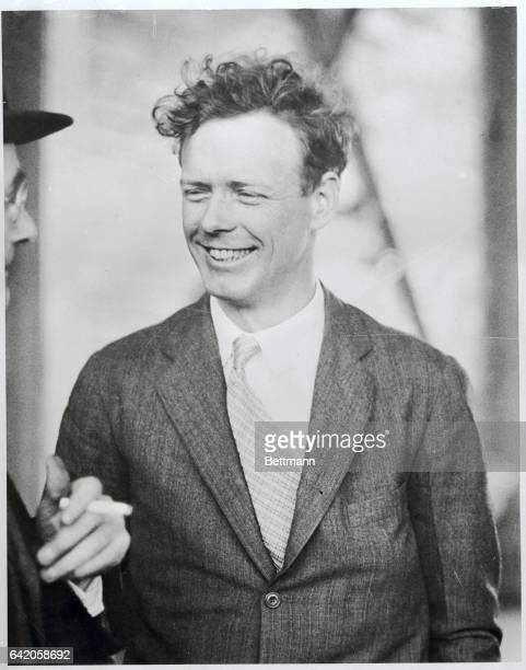 The famous Lindy smile...Like the Lindy of old, Colonel Charles A. Lindbergh smiles broadly as he lands at Pittsburgh, Pennsylvania, April 21st,...