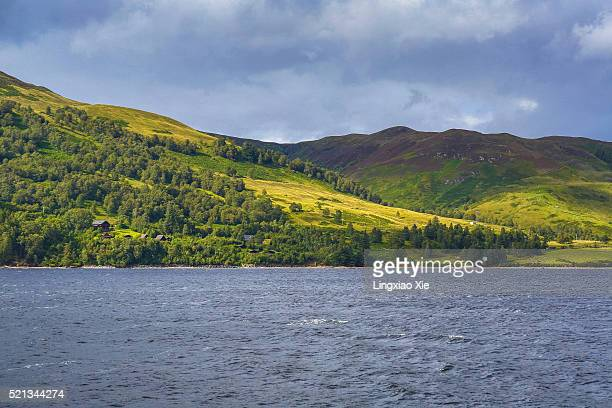 the famous loch ness in scotland, uk - loch ness stock photos and pictures