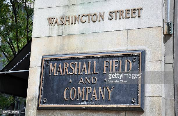 CONTENT] The famous Marshall Field and Company plaque as seen on the side of the building which now houses Macy's