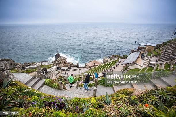 the famous minack theatre in england. - minack theatre stock pictures, royalty-free photos & images