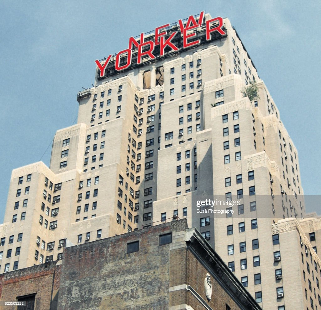 The Famous New Yorker Sign On Top Of