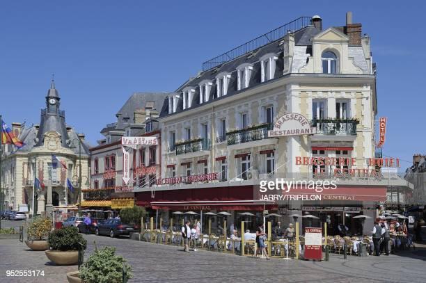 The famous restaurants of boulevard Fernand Moreaux, Trouville, Calvados department, Normandy region, France.