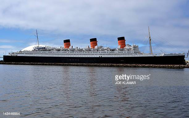 The famous retired ocean liner Queen Mary rests on Long Beach harbour California on April 26 2012 The history of Queen Mary dates back to 1936 with...