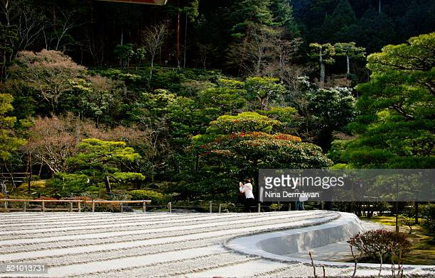 The famous sand garden of Ginkakuji Ginkakuji officially named Jishji is a Zen Buddhist temple in Kyoto Japan
