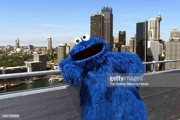 The famous Sesame Street character Cookie Monster in Sydney on 20 October 2002. SMH NEWS Picture by QUENTIN JONES