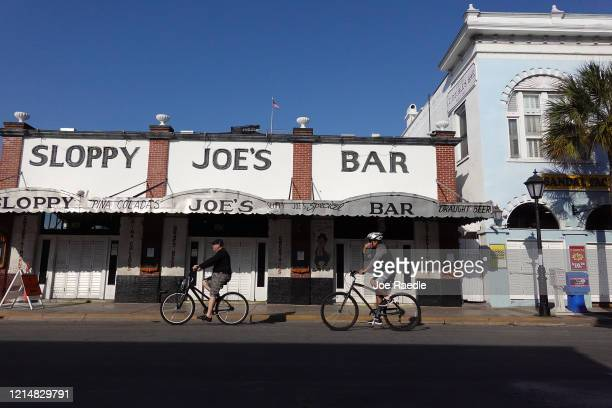 The famous Sloppy Joe's Bar is seen after it closed as the city government takes steps to fight the coronavirus outbreak on March 25 2020 in Key West...