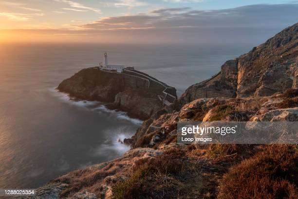 The famous south stack lighthouse on Angelsey in North Wales.