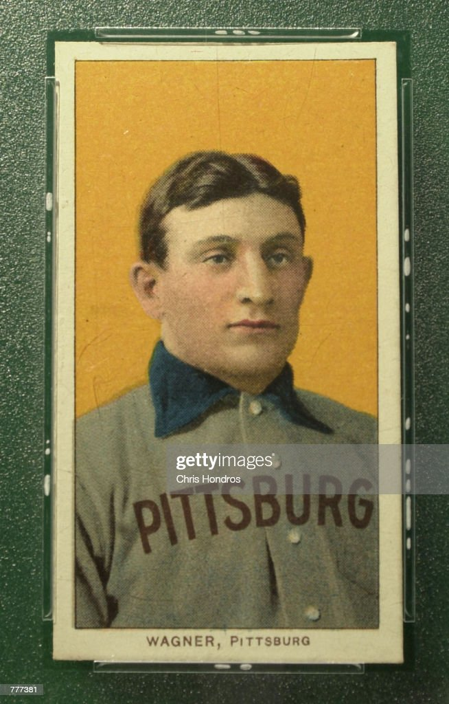Famous Baseball Card of Honus Wagner Goes to Auction : News Photo