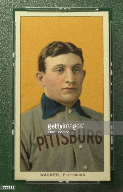 The famous T206 Honus Wagner baseball card is shown June 6 2000 in New York City The legendary baseball card will be auctioned on eBay beginning on...