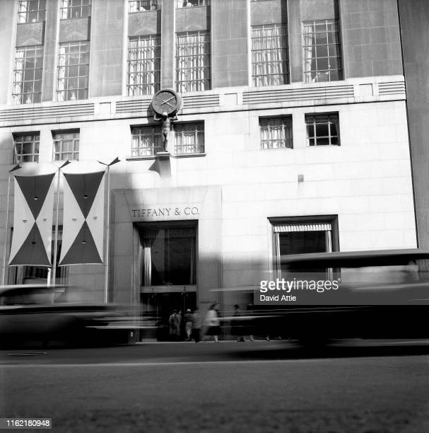 The famous Tiffany & Co. Storefront, at 5th Avenue and 57th Street, in 1957 in New York City, New York. Photo taken to illustrate the original...