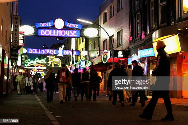 The famous tourist site 'Reeperbahn' seen on May 13, 2006 in Hamburg, Germany.