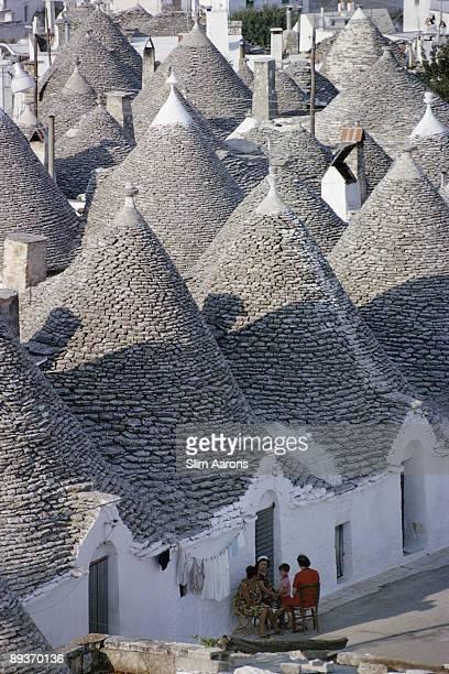 The famous 'trulli' or conical stone houses of Alberobello in Apulia Italy circa 1960