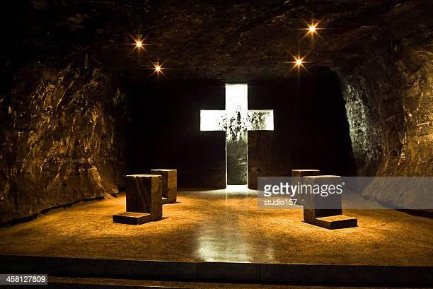 a famosa catedral de sal de zipaquirà metrô - catedral - fotografias e filmes do acervo
