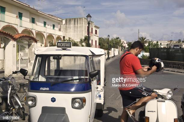 The famous Vespa and the Ape classic transport of 'Eighties' on June 11 2012 in Procida Italy