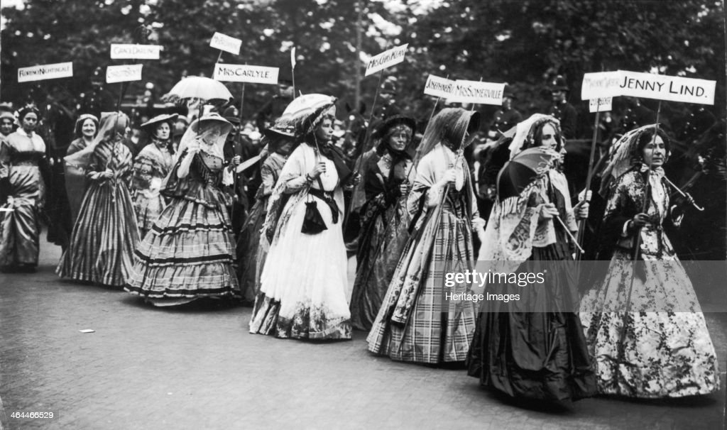 The 'Famous Women' Pageant of the Women's Coronation Procession, London, 1911. : News Photo
