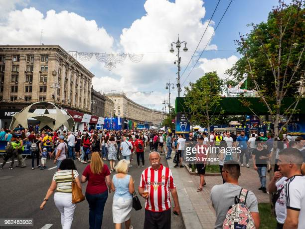 The fan zone of the Champions League is located on the most popular street of the city On Saturday May 26 Kiev will host the finals of the largest...