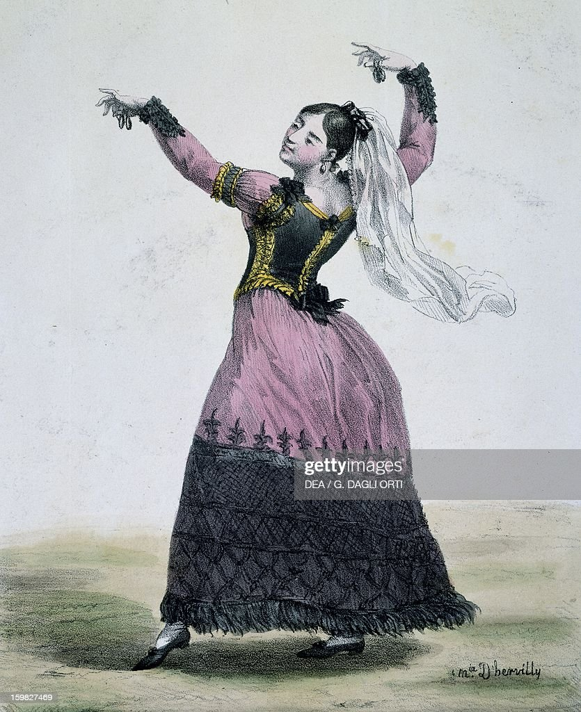 The fandango, engraving by d'Hervilly... : News Photo