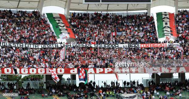 The fans of Bari during the Serie A match between AS Bari and ACF Fiorentina at Stadio San Nicola on May 16, 2010 in Bari, Italy.