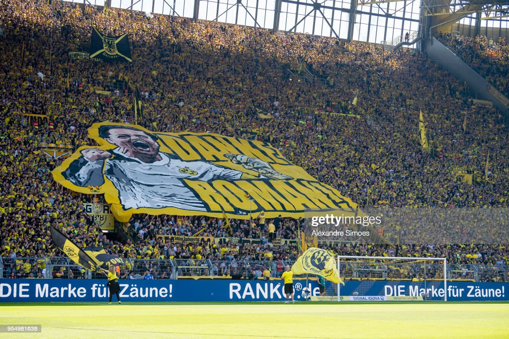 The Fans Of Borussia Dortmund And Their Banner For Goal Keeper Roman News Photo Getty Images