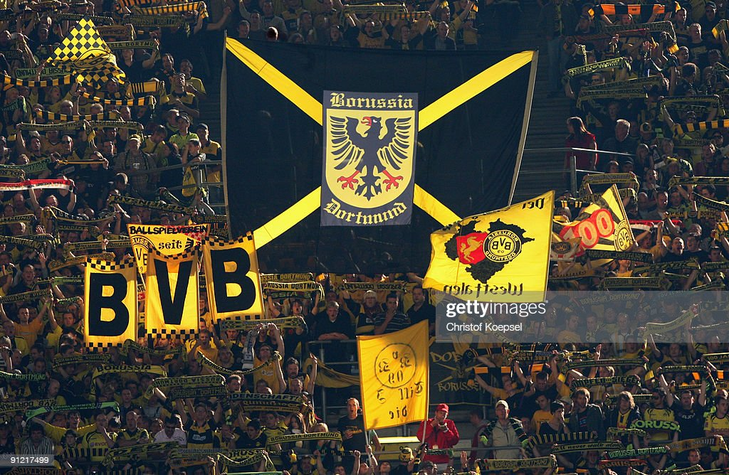 The Fans Of Dortmund Shows A Banner During The Bundesliga Match News Photo Getty Images