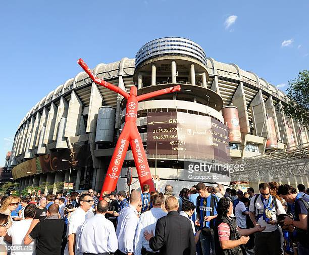The fans of Inter Milan and the fans of FC Bayern Muenchen before the UEFA Champions League Final match between FC Bayern Muenchen and Inter Milan at...