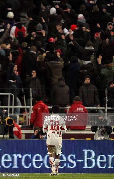 The fans of Stuttgart show Cacau their backs after loosing the Bundesliga match between VfB Stuttgart and FC Bayern Muenchen at MercedesBenz Arena on...