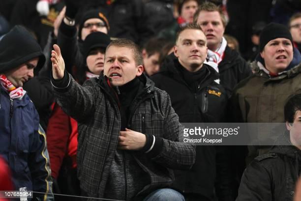 The fans of Stuttgart show their frustration after Stuttgart lost 35 the Bundesliga match between VfB Stuttgart and FC Bayern Muenchen at...
