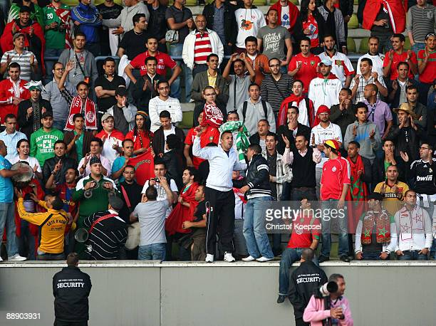 The fans of Wydad AC Casablanca during the Zayon Cup match between Galatasaray Istanbul and Wydad AC Casablanca at the Lorheide stadium on July 8...