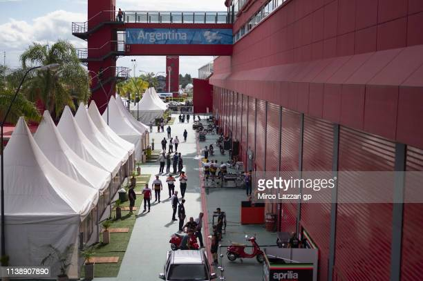 The fans walk in paddock during the MotoGp of Argentina - Previews on March 28, 2019 in Rio Hondo, Argentina.