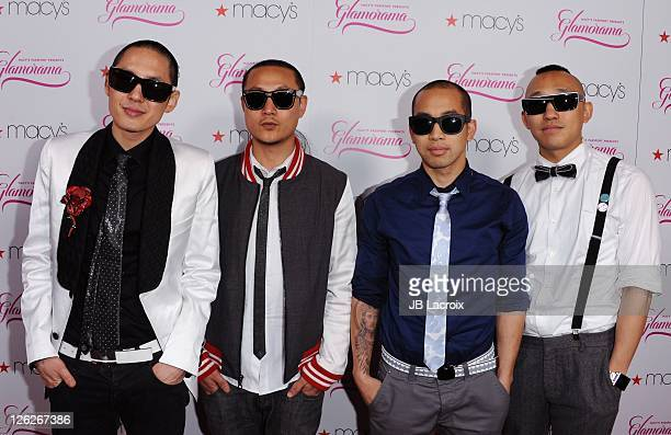 The Far East Movement arrives at Macy's Passport Presents Glamorama 2011 held at The Orpheum Theatre on September 23 2011 in Los Angeles California