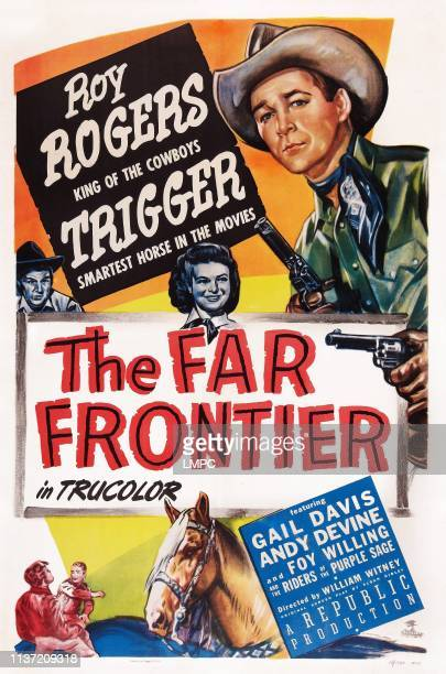 The Far Frontier poster US poster art Roy Rogers Gail Davis Trigger 1948