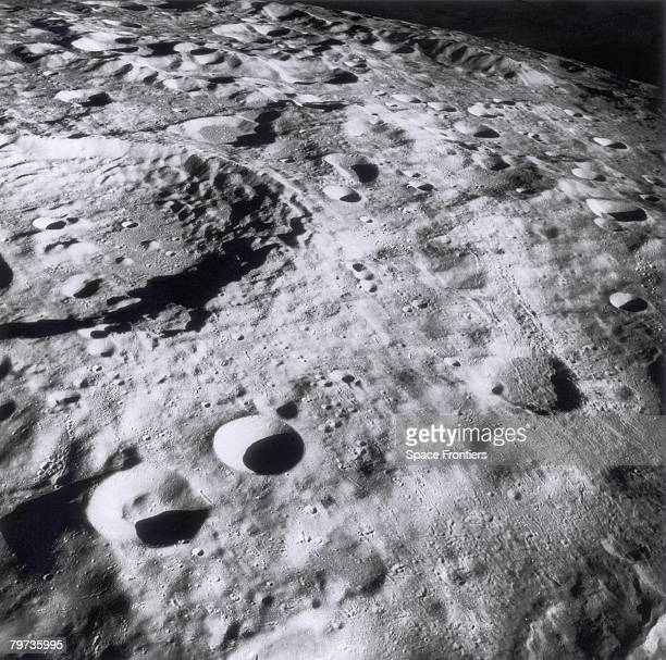 The far side of the Moon photographed during NASA's Apollo 8 mission December 1968 Apollo 8 astronauts Frank Borman James Lovell and William Anders...