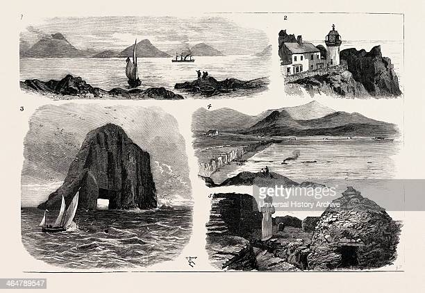 I The Faraday Entering Ballinskelligs Bay 2 Lower Lighthouse On The Great Skellig 3 The Bull Rock Off Dursey Head Where The New Lighthouse Is Being...