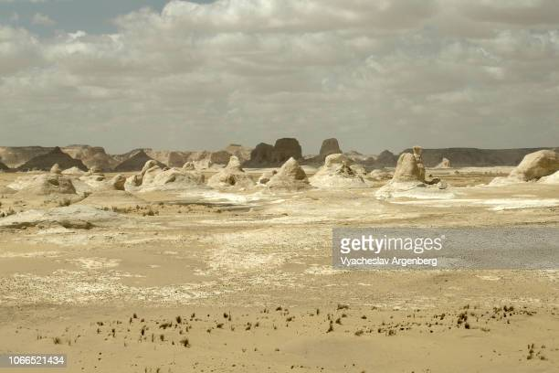 The Farafra depression, Egypt, white chalk rock formations