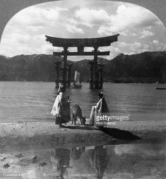 The Far-famed Seagirt Torii of Miyajima. Quaint Gateway to the Famous Shinto Shrine, Japan', 1905. The Torii Gate, built in 1168, is one of Japan's...